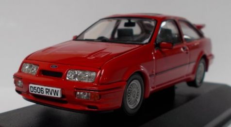 1:43 Corgi Vanguards Ford Sierra RS Cosworth Rosso Red