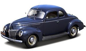 1:18 Universal Hobbies Eagle's Race 1940 Ford Deluxe Coupe Blue