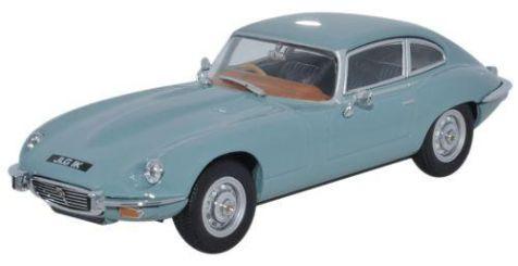 1:43 Oxford Diecast Jaguar V12 in Light Blue JAGV12001