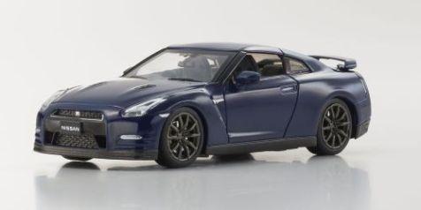 1:43 Kyosho 2014 Nissan Skyline GT-R (R35) in Aurora Flare Blue Pearl 03744ABL