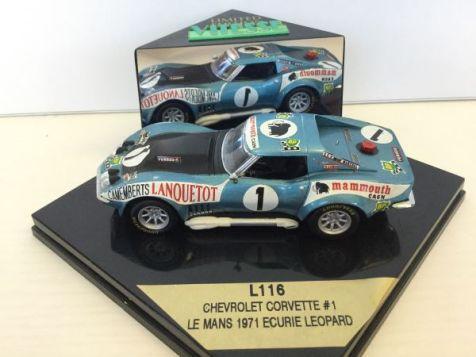 1:43 Vitesse Chevrolet Corvette Stingray 1971 Le Mans #2 H.Greder/M.C.Beaumont L122