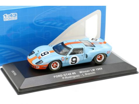 1:43 IXO 1968 Ford GT40 #9 Rodriguez/Bianchi 24h LeMans Winner
