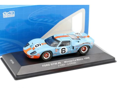 1:43 IXO 1969 Ford GT40 #6 Ickx/Oliver 24h LeMans Winner