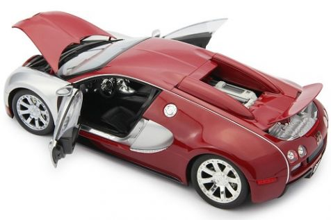 1:18 Minichamps Bugatti Veyron Limited Edition Centenaire 2009 Chrome/Red