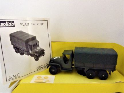 PRELOVED - 1:50 Solido - Collection Militaire 1 - GMC - Item # 6032