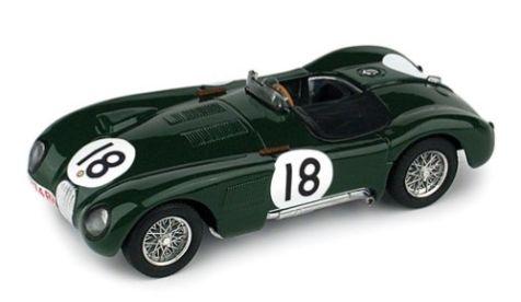 1:43 BRUMM Jaguar C-Type #18 Le Mans 1953 Rolt/Hamilton R358