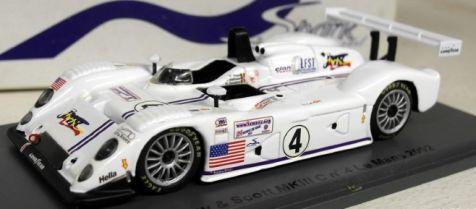 1:43 Spark Riley & Scott MKIII C #4 Le Mans 2002 M. Goossens - J. Matthews - D. Theys