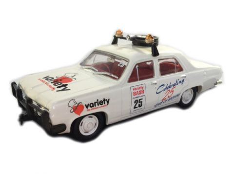 This model was specially commissioned for Variety, the Children's Charity to celebrate 25 year of Outback Bashing which was originated by Dick Smith in 1985. To recognize their Silver Anniversary a National Bash was held in 2009 with over 2,000 entrants b