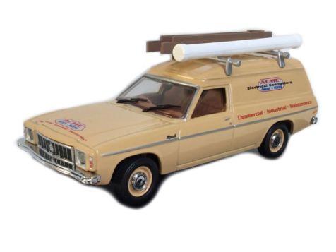 1:43 TRAX 1976 Holden HX Panel Van in ACME Livery TR47B