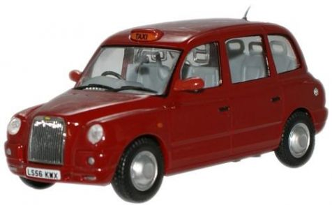 1:43 Oxford Diecast Nightfire Red TX4 Taxi TX4006