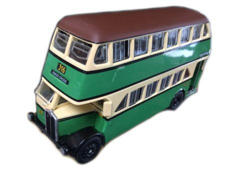 1:76 TRUX - 1949 AEC Regent III Double Deck Bus - Route 316 Kings Cross - TX6B