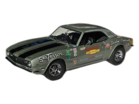 1:18 ExactDetail Replicas 1968 'Sea Terror' Silver with Black Stripes Chevrolet Camaro Z/28 - WCC224